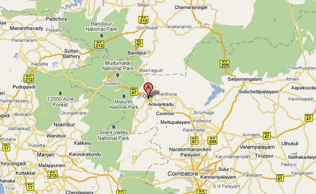 Ooty Map