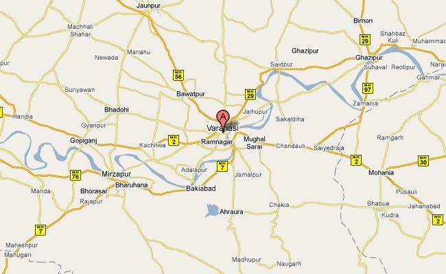 The Tour Planners Discover India North India Uttar Pradesh - Varanasi map